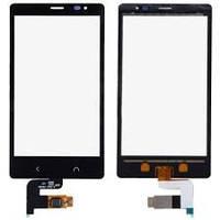Тачскрин сенсорное стекло для Nokia X2 Dual Sim black