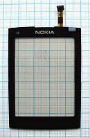 Тачскрин сенсорное стекло для Nokia X3-02 High Copy black