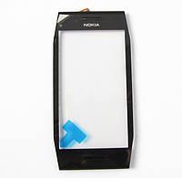 Тачскрин сенсорное стекло для Nokia X7 Original with frame black