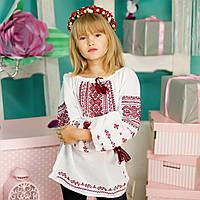 Вышиванка для девочки (домотканая ткань, ручная вышивка, 6 лет)