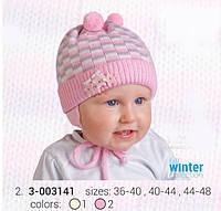 Вязанная шапка на завязках TuTu для новорожденных