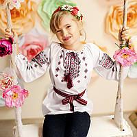 Вишиванка для дівчинки (поплін, ручна робота, 6 років), фото 1