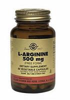L-Аргинин капсулы 500мг N50 , Солгар / Solgar