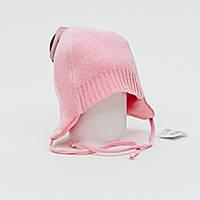 Хлопковая шапочка на завязках для новорожденных