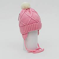 Вязанная шапка c помпоном TuTu для малышки