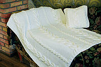 """Одеяло спицами """"Сгущёночка"""""""