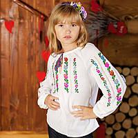 Вишиванка для дівчинки (домоткана тканина, ручна робота, 5-6 років)