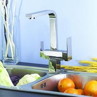 Комбинированный кухонный смеситель Blue Water Польша Taupo chrom подключение фильтрованной воды, фото 1