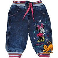 "Джинсы на флисе ""Minnie Mouse Club"" для девочки от 06-24 мес"