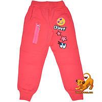 """Утепленные спортивные брюки """"Funny Ooops"""" , трикотажные с начесом , для девочки от 4-8 лет"""