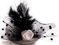 Заколка для волос Шляпка блестящая