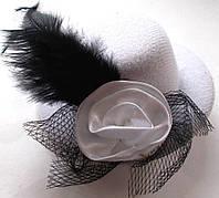 Заколка для волос Шляпка диаметр 8 см