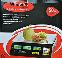 Электронные торговые весы Wimpex 50 кг, со счетчиком цены, торговое оборудование, весы, электронные