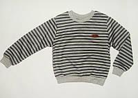 Джемпер для Мальчика Полосатый Плотный трикотаж  Серый Рост 86-92 см