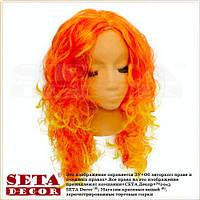 Парик из оранжевых длинных вьющихся волос