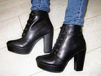Д481 - Ботиночки женские черные на каблуке
