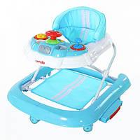 Детские ходунки Carrello 3 в 1 CRL-9601 Blue (ходунки качалка, каталка)