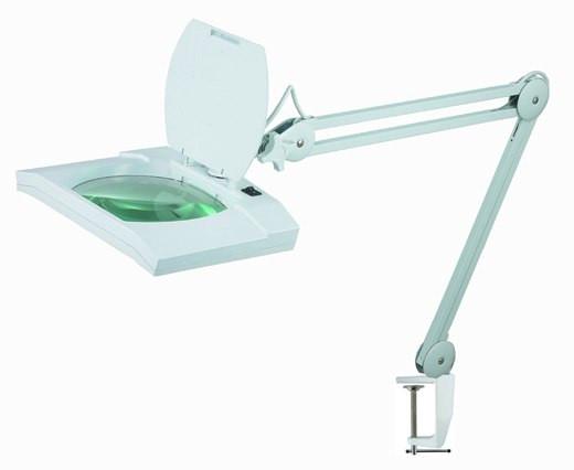 Лупа-лампа 5 диоптрий 190x157мм с ЛЕД подсветкой косметологическая Bourya 8069