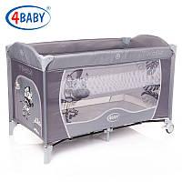 Детский манеж-кровать 4baby Vegas 2 уровня