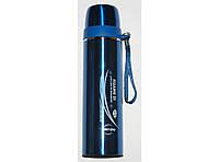 Термос для напитков 450 мл T36 (синий), компактный высококачественный термос
