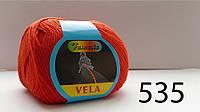Итальянская пряжа Вела фирмы Сеам для ручного вязания хлопок с шелком