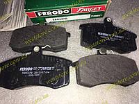 Колодки тормозные передние Ваз 2108 2109 21099 2113 2114 2115 Ferodo Target зеленые