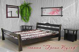 """Кровать """"Грета Вульф"""" из массива дерева - дуб."""