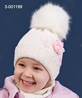 Шапка для девочки зимняя р.54