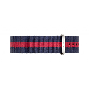 Нейлоновый ремешок Daniel Wellington Oxford 18 mm - Red and Navy Blue 0801DW