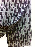 Брендовый шарф двухсторонний кашемир цвет коричневый с бежевым