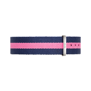 Нейлоновый ремешок Daniel Wellington Winchester 18 mm - Pink and Navy Blue 0804DW