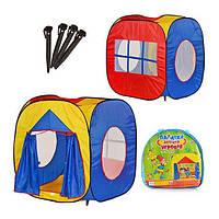 Детская игровая палаткаM 0507 куб, 105-100-105см, вход с занавеской, 3 окна-сетка, в сумке