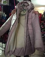 Куртка зимняя женская большого размера Батал 48-56 мех