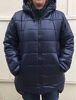 Куртка удлиненная зимняя на меху женская Батал,до 56 размера
