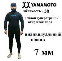 Пошить гидрокостюм 7 мм Ямамото 38; нейлон суперстрейч / открытая пора; короткие штаны