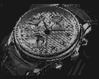 """Художественный декор из перфорированного металла картина """"Часы"""" Панно"""