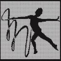 """Оформление фасадов, перегородок, потолков из перфорированного листа картина """"Гимнастика"""" Панно (декор)"""