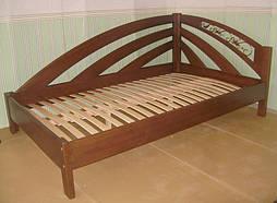 """Кровать угловая с кованным элементом """"Радуга"""". 2"""