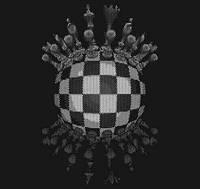 """Дизайнерские решения и проекты из перфорированного листа картина """"Шахматы 6"""" Панно (декор)"""