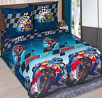 Подростковое постельное белье Мото Гран-При, поплин 100%хлопок - двуспальный комплект