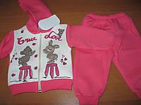 Детский теплый зимний костюмчик для маленькой девочки 3-х  нитка 6-12 мес Турция