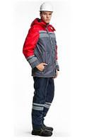 """Куртка рабочая утепленная """"Строй-Люкс"""" (цв. серый, красный)"""