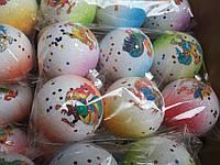 Игрушка новогодняя шар с рисунком петух 6 см 6 шт, фото 1
