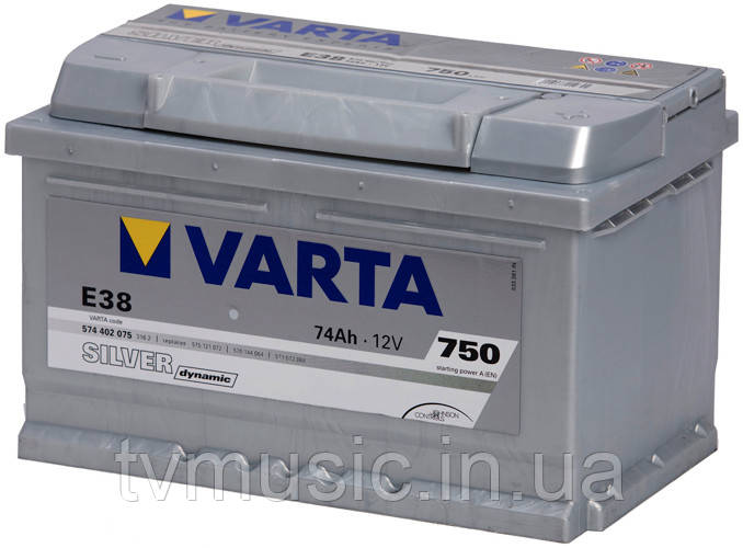 Аккумулятор Varta Silver Dynamic E38 74Ah 12V (574 402 075)