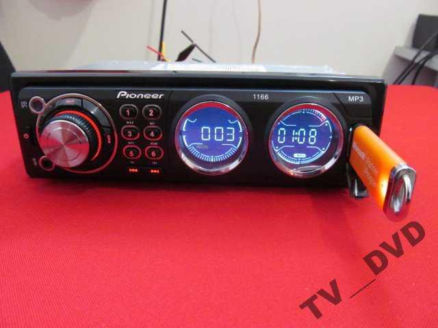 Автомагнитола Pioneer 1166 USB Еврофишка Радиатор