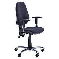 Кресло офисное Бридж Хром, MF К/з Черный