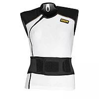 Мотожилет женский с защитой спины IXS Carapax белый черный DXL
