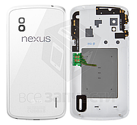 Задняя крышка батареи для мобильного телефона LG E960 Nexus 4, белая