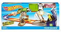 Hot Wheels трек Мусорный контейнер Track Builder Garbage Dumping Alley Trackset