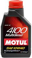 Моторное масло для авто Motul 4100 Multidiesel 10W40, 1л